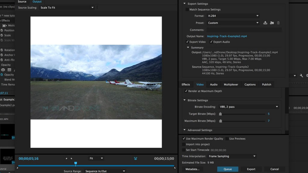 Epic Instagram Videos - Exporting