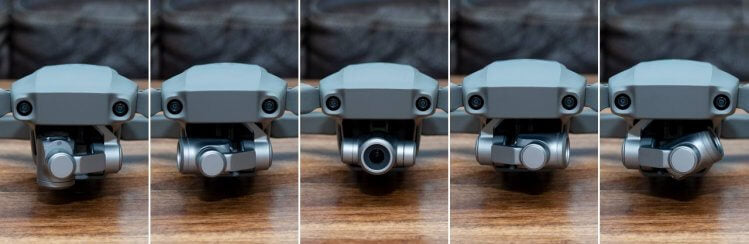DJI Mavic 2 Goggles new gimbal extents