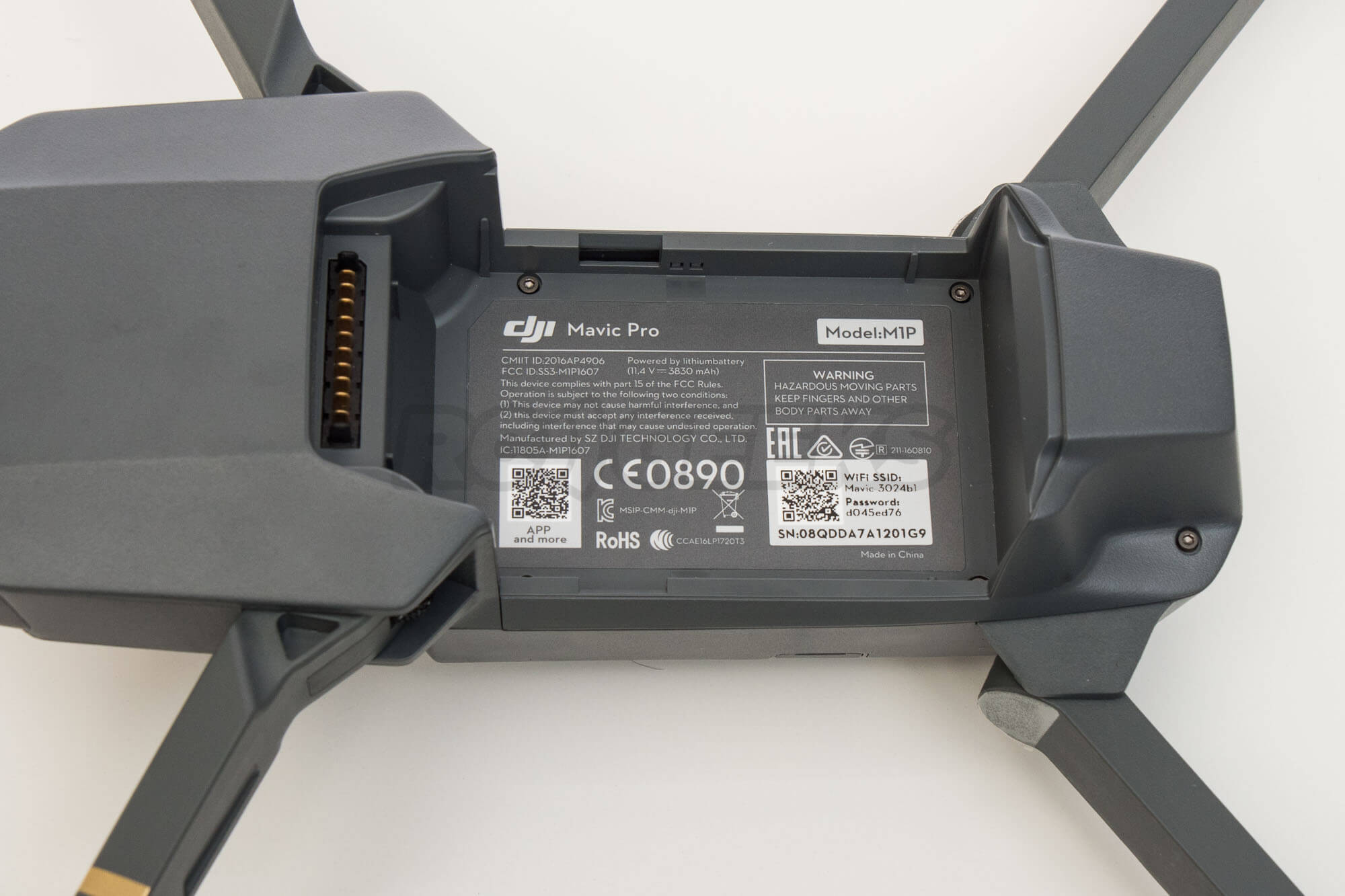 DJI-Mavic-pro-aircraft-battery-tray