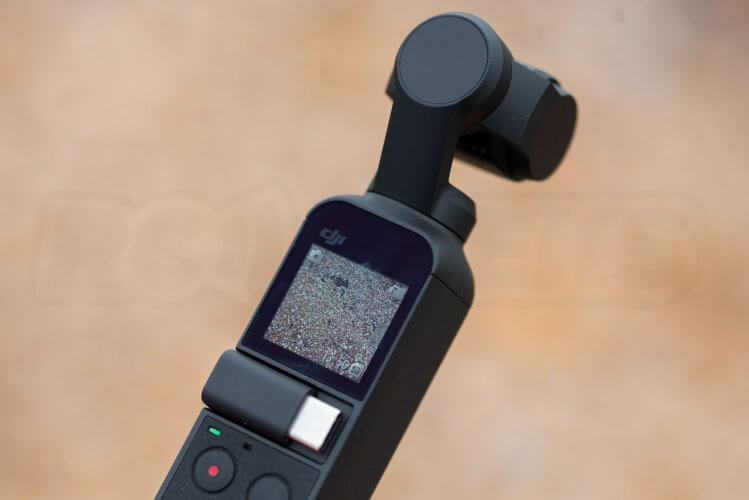 DJI Osmo Pocket in use at the beach