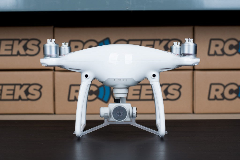 DJI Phantom 4 drone unboxed front