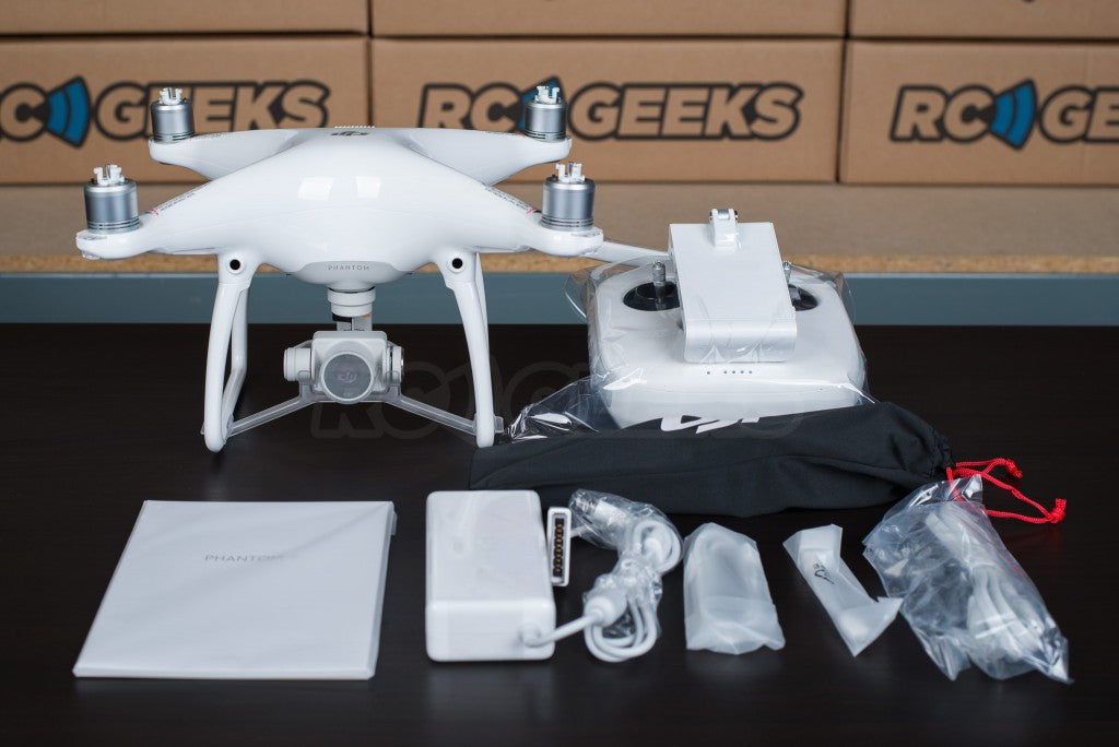 DJI Phantom 4 unboxed content wrapped