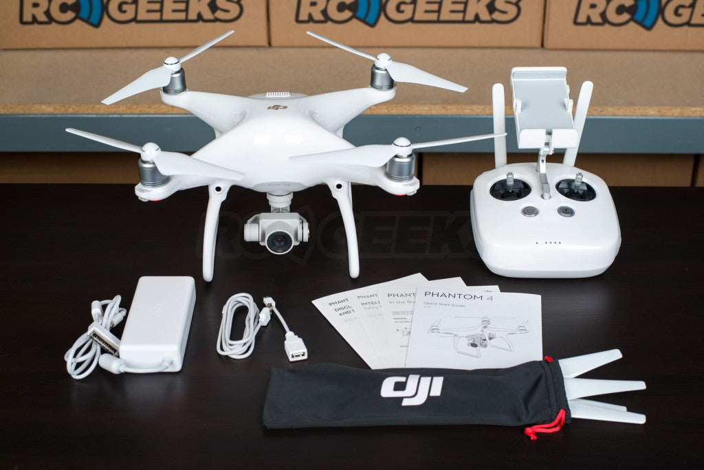 DJI Phantom 4 unboxed full contents