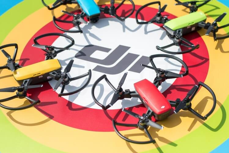 Hands on the DJI Spark Yellow Red Green Blue