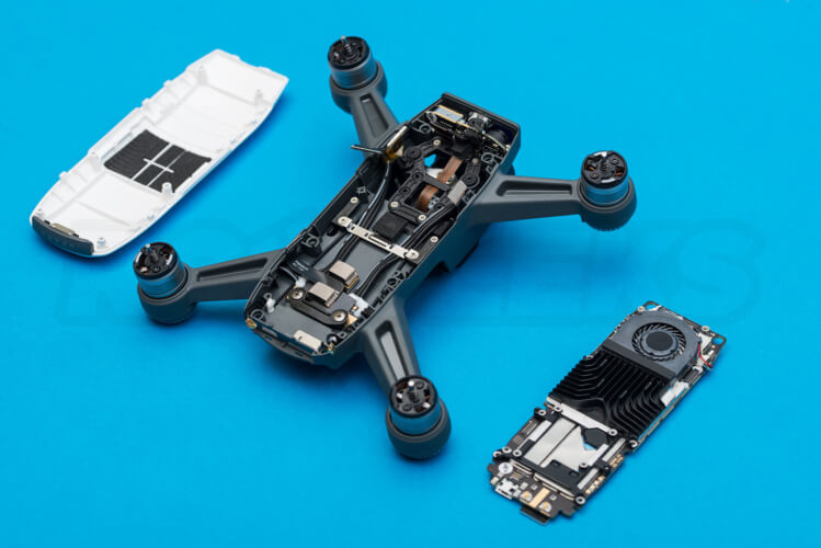 DJI Spark Teardown main board removed