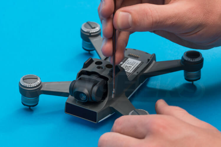 DJI Spark Teardown opening case