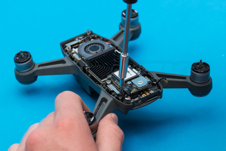 DJI Spark Teardown remove motherboard