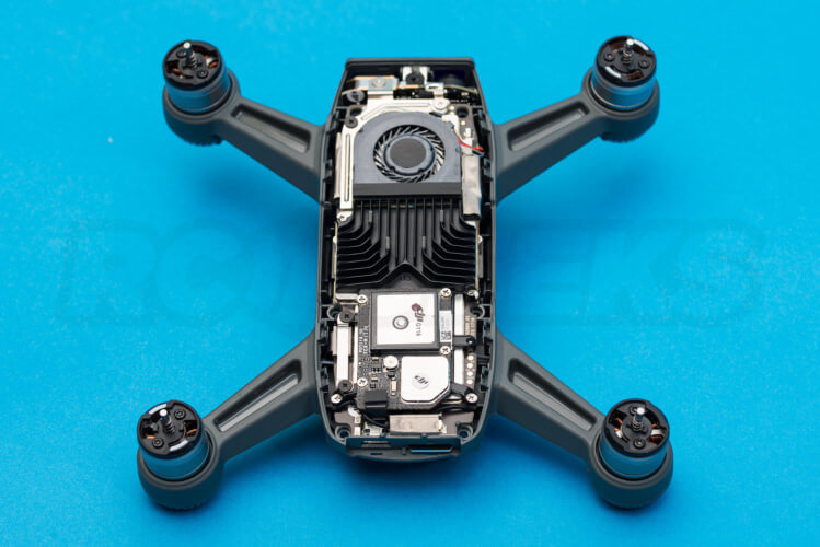 DJI Spark Teardown white lid removed