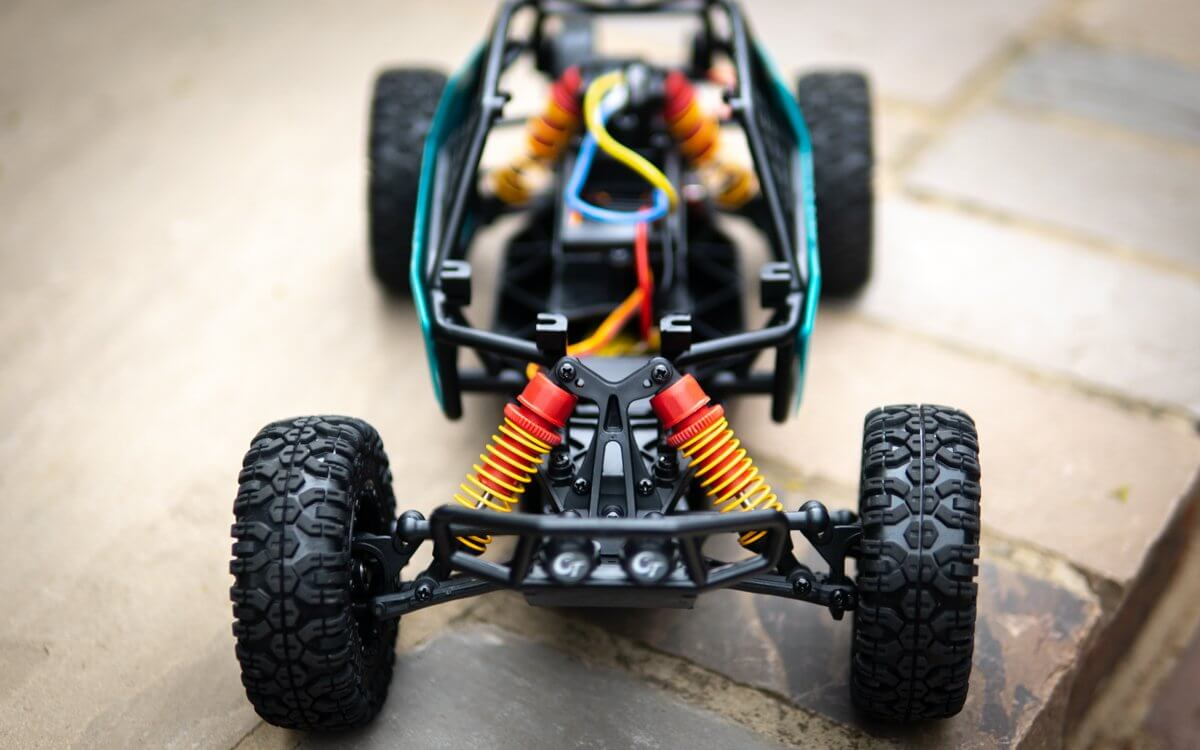 Kyosho Axxe Buggy Review Front View with no shell