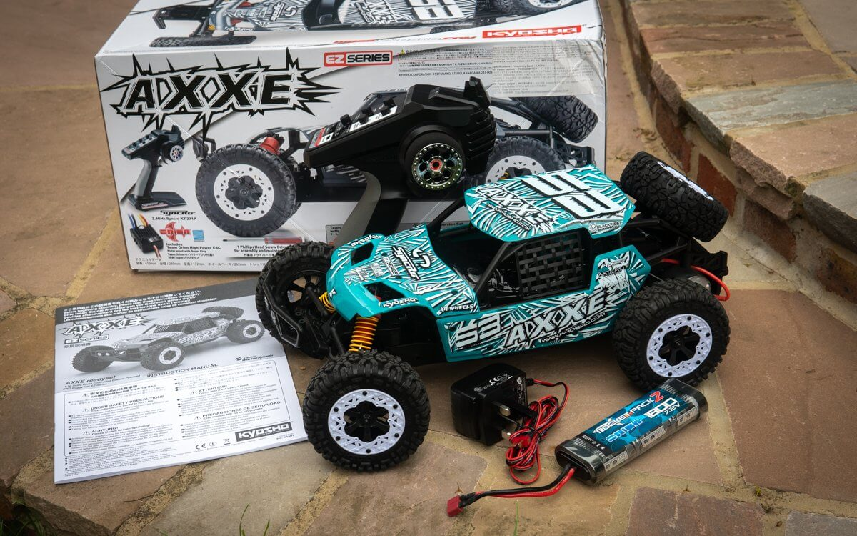 Kyosho Axxe Buggy Review Unboxing Contents