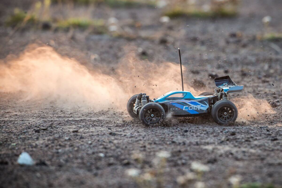 FTX Colt RC remote control buggy review blue dust slide