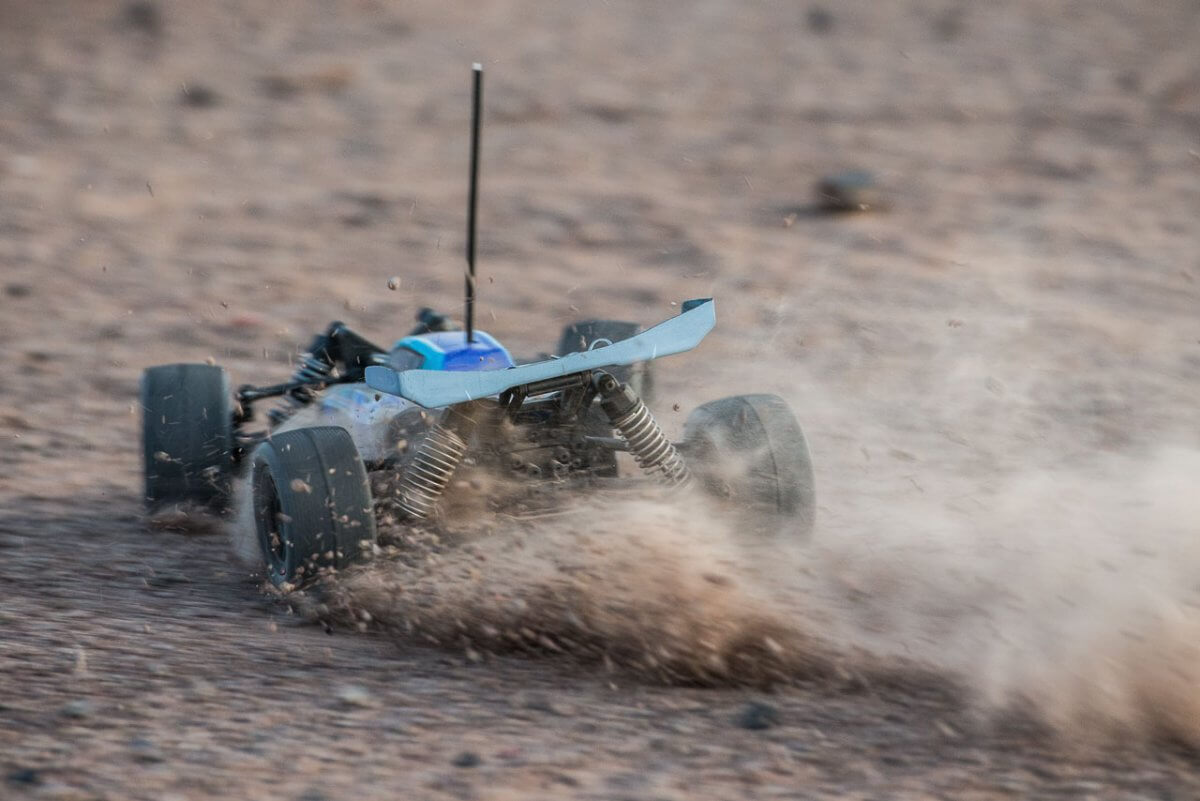 FTX Colt RC remote control buggy review blue slide rear