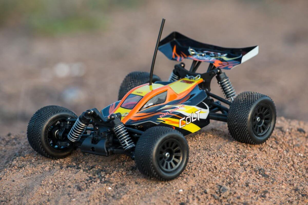 FTX Colt RC remote control buggy review orange in use front close