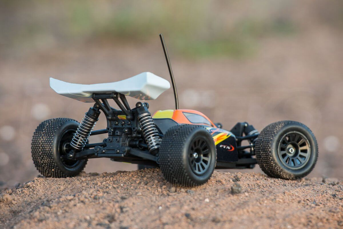 FTX Colt RC remote control buggy review orange in use rear close low
