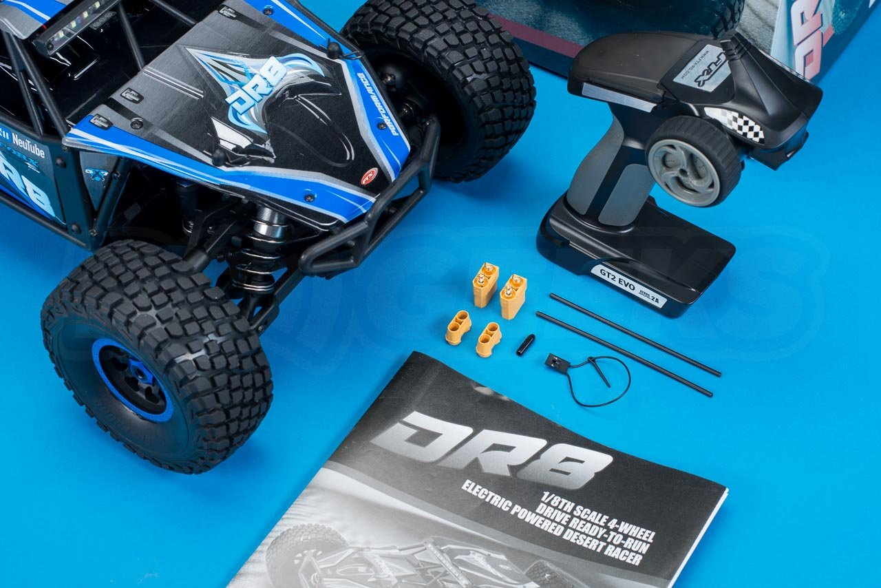 FTX-DR8-6S-Desert-Racer-Review-in-the-box-contents