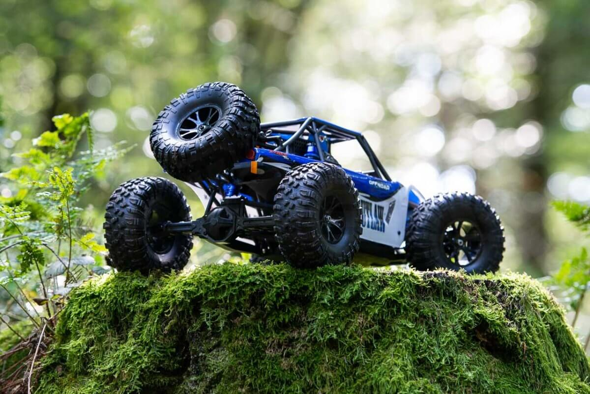 FTX Outlaw Ultra-4 Brushless Buggy Review rear on stump
