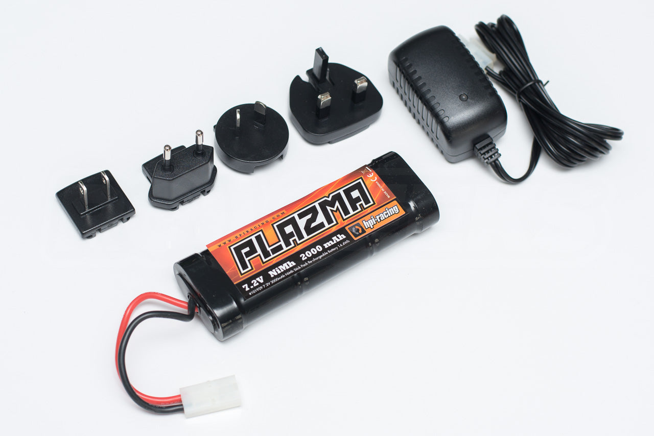 HPI Racing E10 Drift Nissan GT-R R34 Review battery and charger plazma 2000mAh