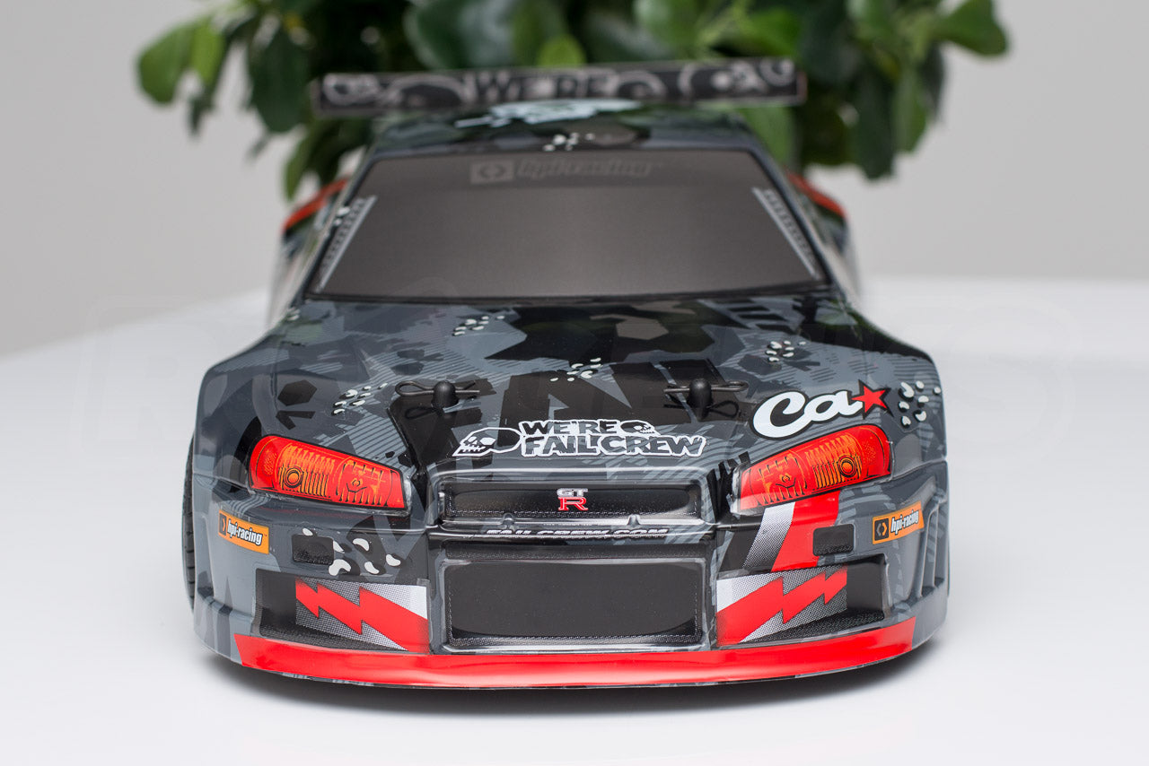 HPI Racing E10 Drift Nissan GT-R R34 Review body front detail
