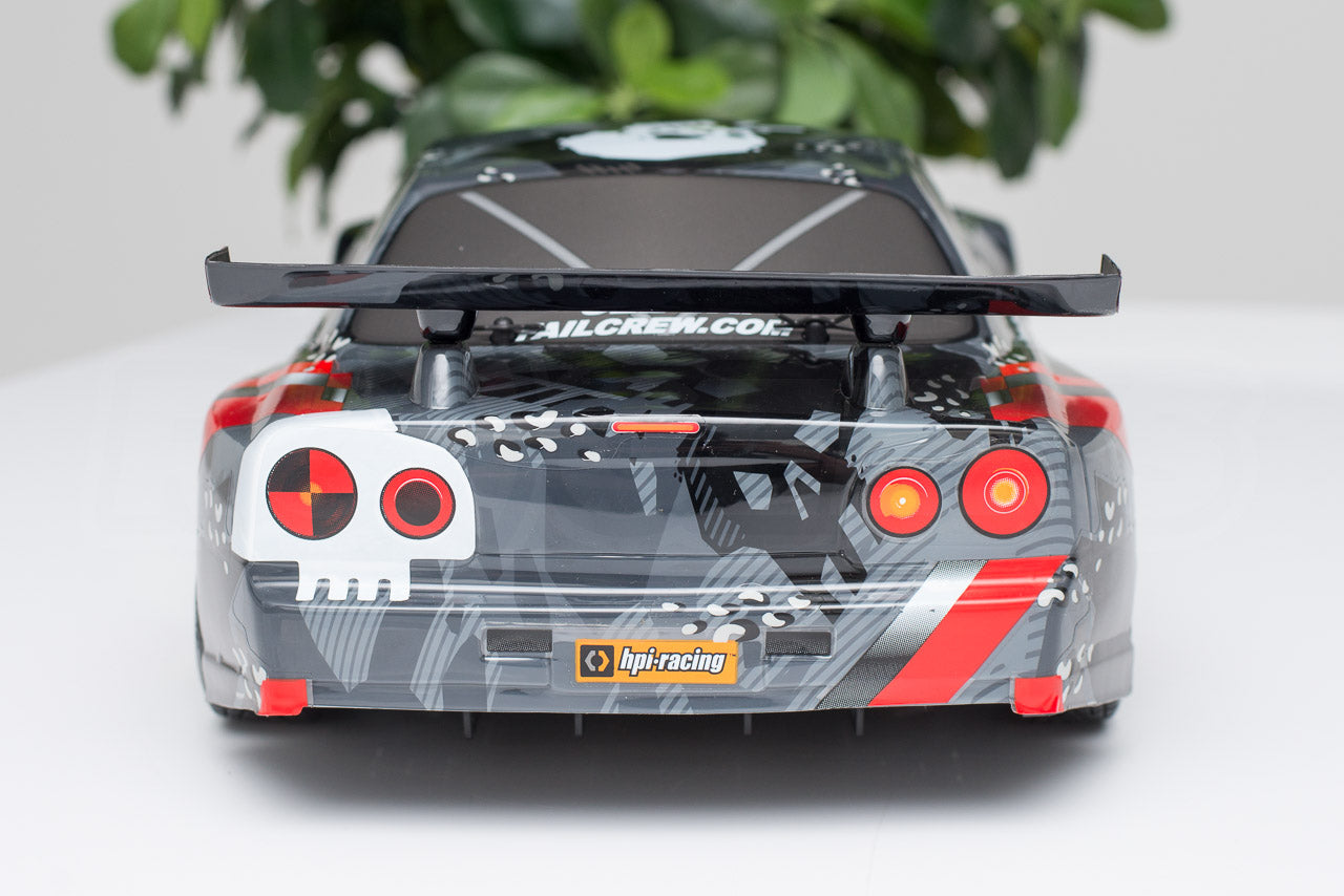 HPI Racing E10 Drift Nissan GT-R R34 Review body rear detail