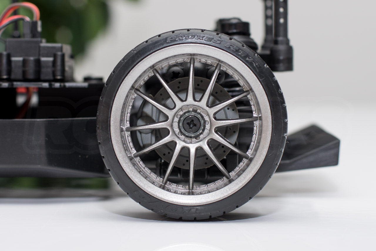 HPI Racing E10 Drift Nissan GT-R R34 Review rear wheel brake details