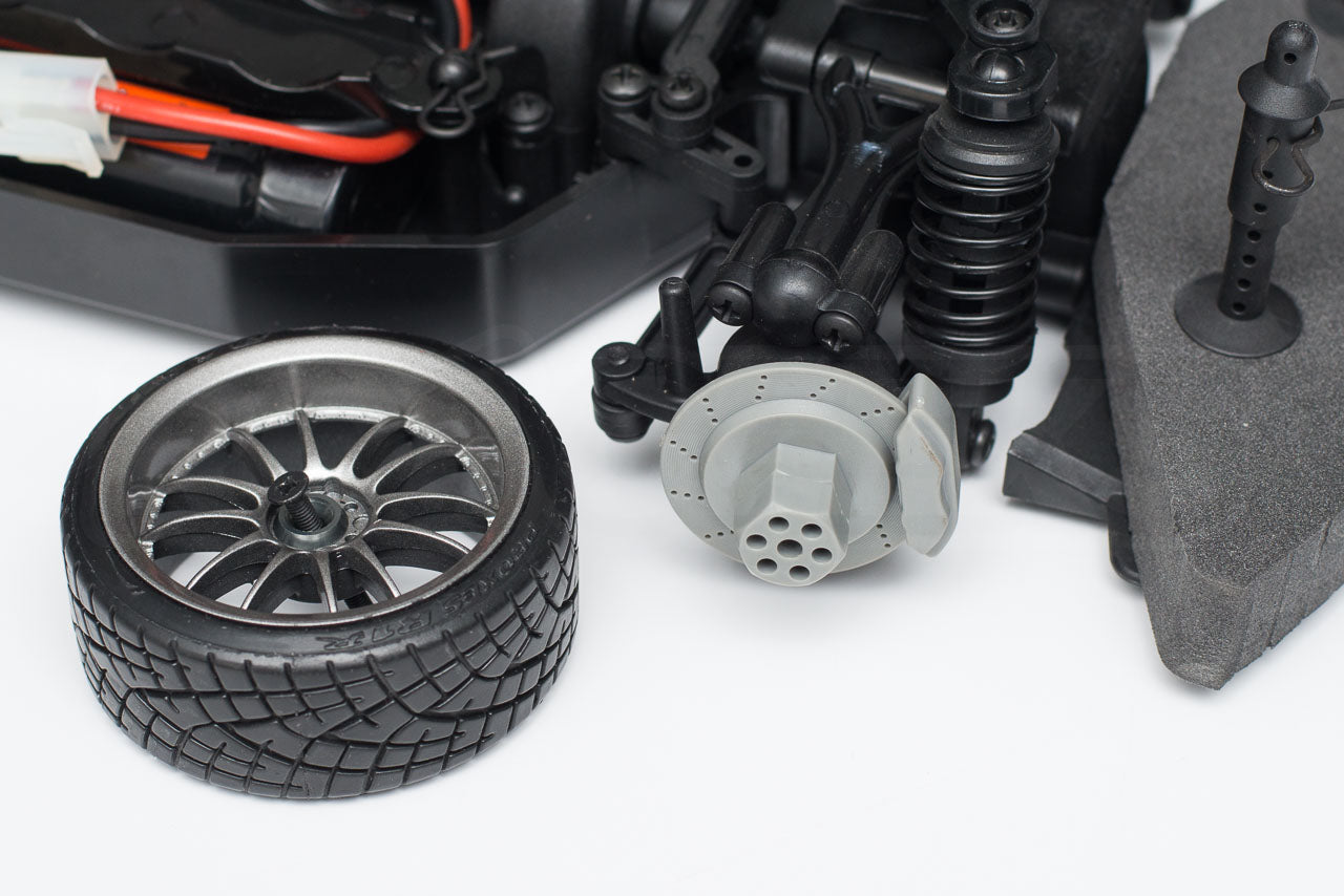 HPI Racing E10 Drift Nissan GT-R R34 Review wheel spacers fitted