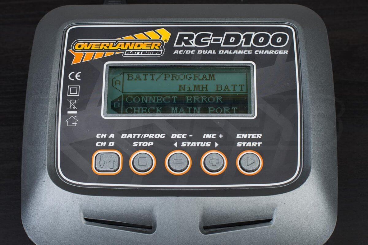 How to charge rc battery batteries guide overlander RC D100 dual charger display connection error