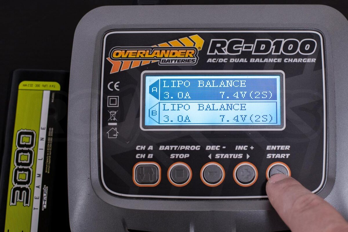 How to charge rc battery batteries guide tutorial four button charger overlander step 2