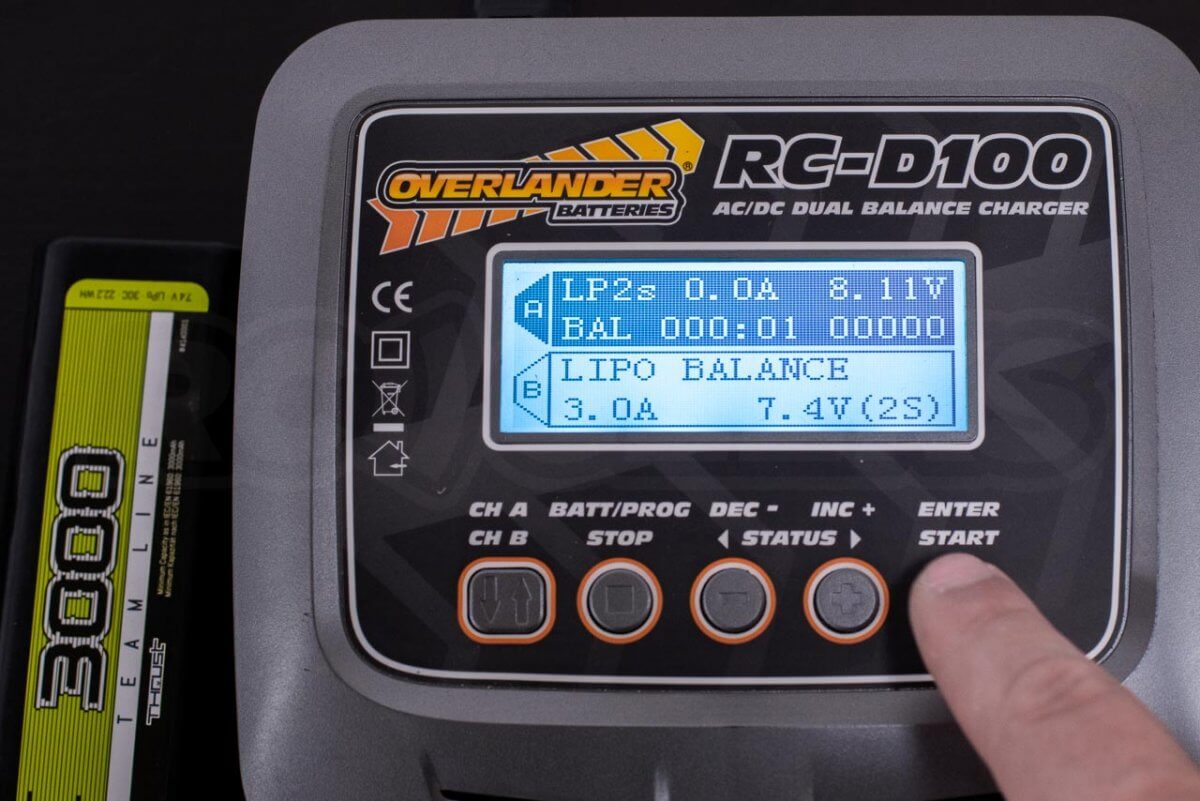 How to charge rc battery batteries guide tutorial four button charger overlander step 5