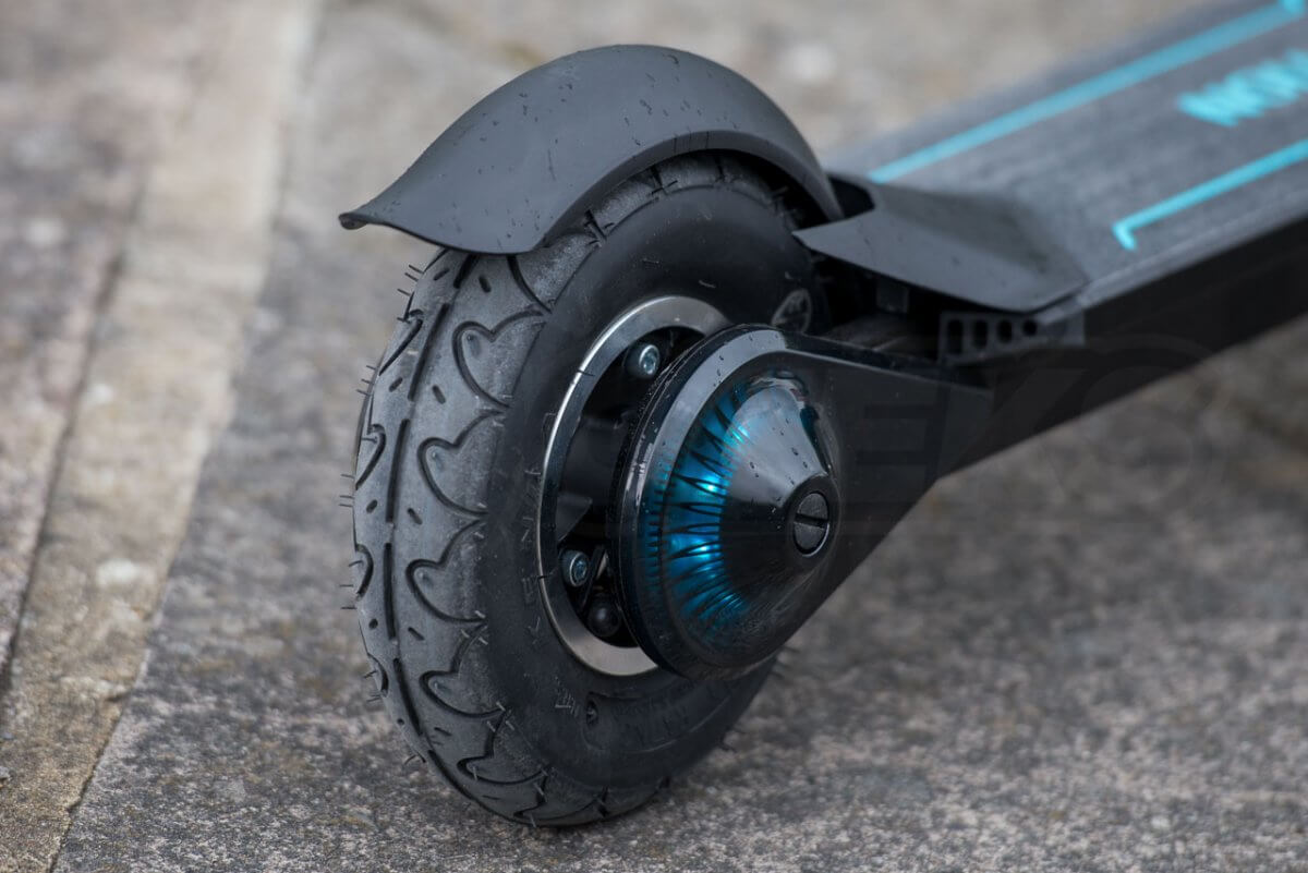 Inmotion L8F review rear wheel inflated