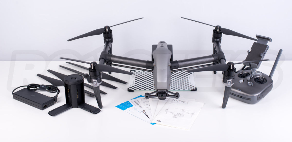 Inspire 2 Unboxing - full box contents