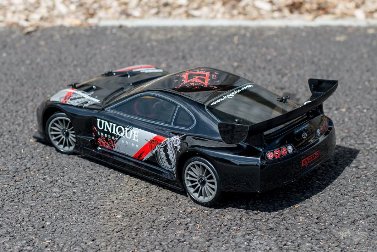 Kyosho Fazer T1 Toyota Supra RC Drift Car Review basic body rear left
