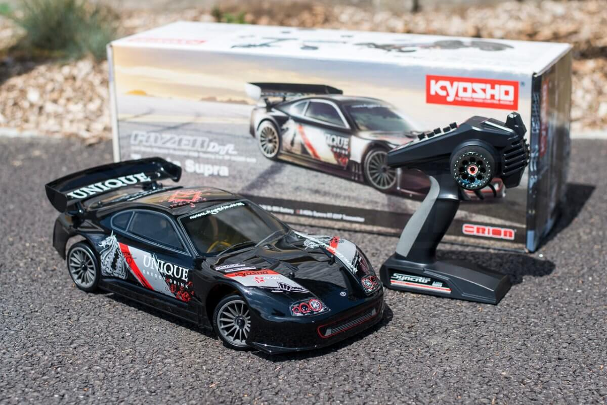 Kyosho Fazer T1 Toyota Supra RC Drift Car Review box contents
