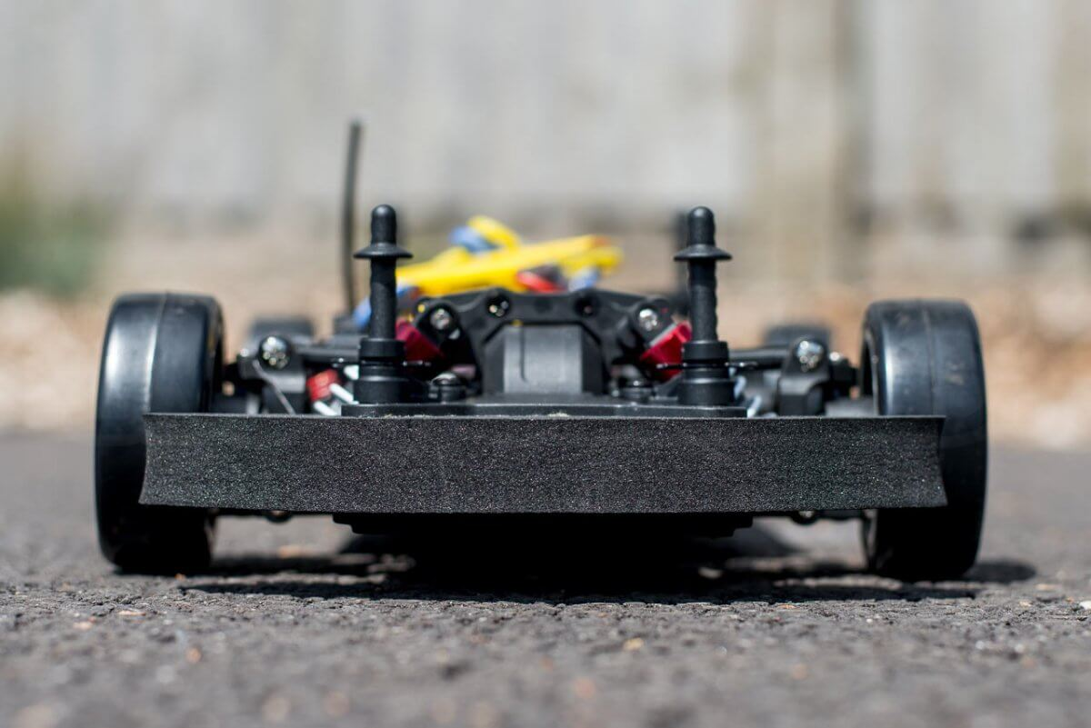 Kyosho Fazer T1 Toyota Supra RC Drift Car Review chassis rear end low