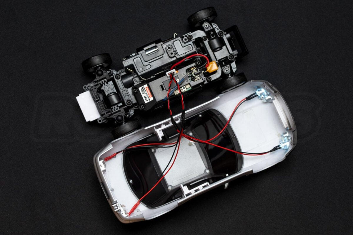 Kyosho Mini Z Drift cars review Skyline R33 light kit installation