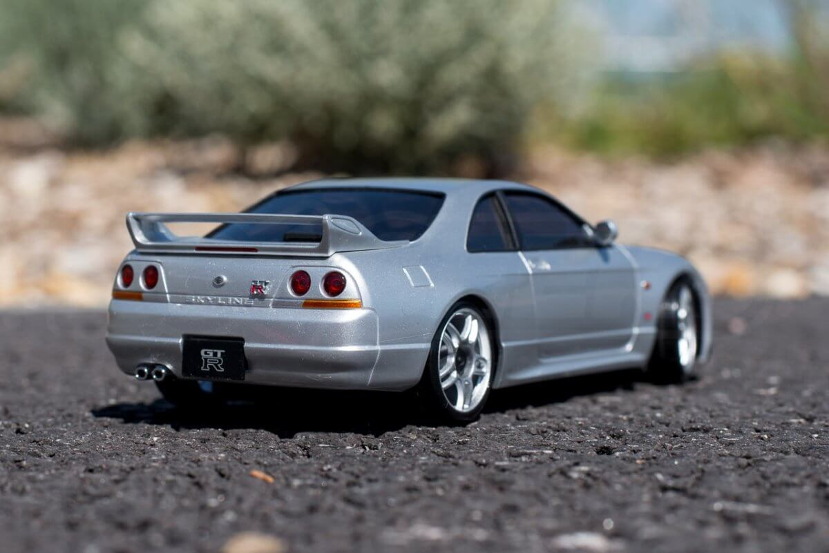 Kyosho Mini Z Drift cars review Skyline R33 rear right
