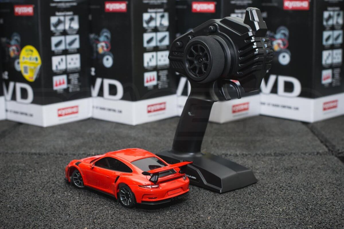 Kyosho Mini-z range rwd awd overview introduction RWD 911 GT3 Remote rear