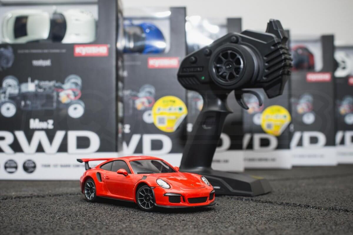 Kyosho Mini-z range rwd awd overview introduction RWD 911 GT3 Remote selection