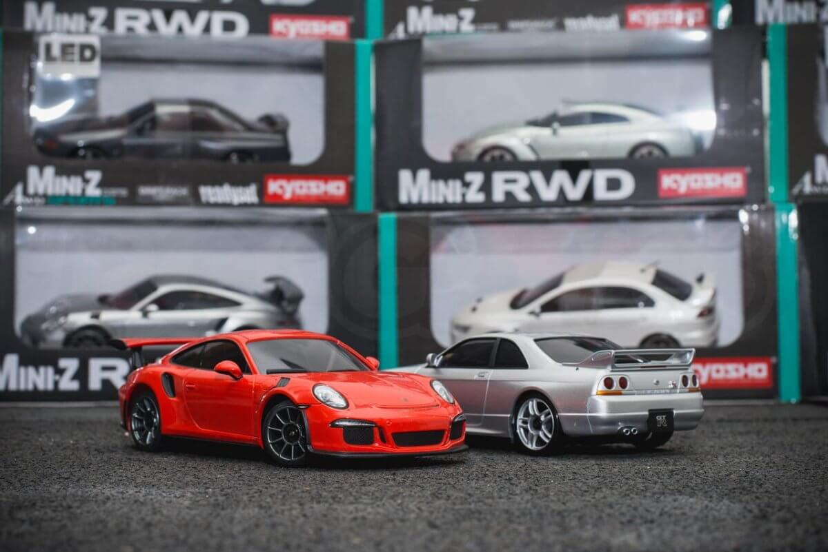 Kyosho Mini-z range rwd awd overview introduction pairing mixed porsche