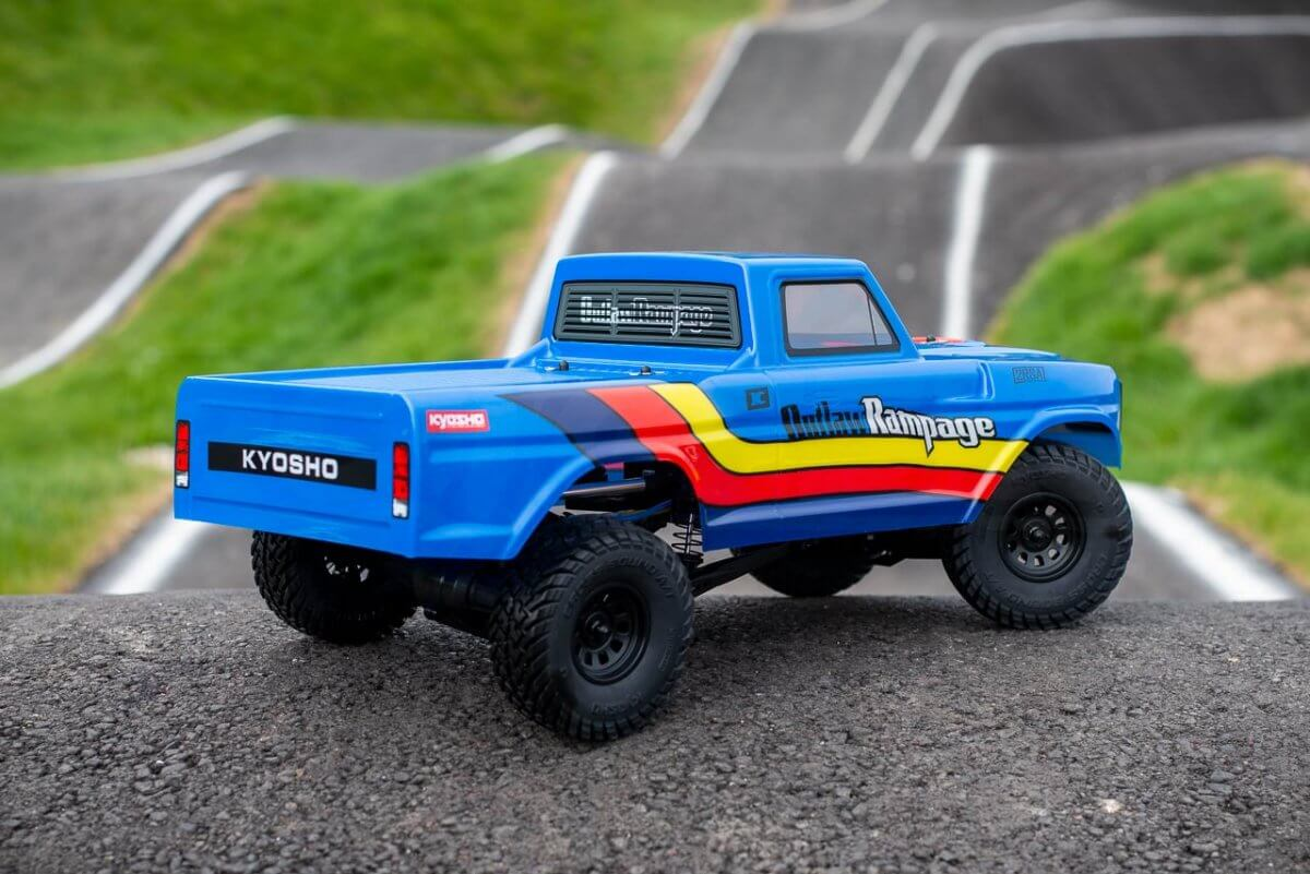 Kyosho Outlaw Rampage Review Rear three quarter