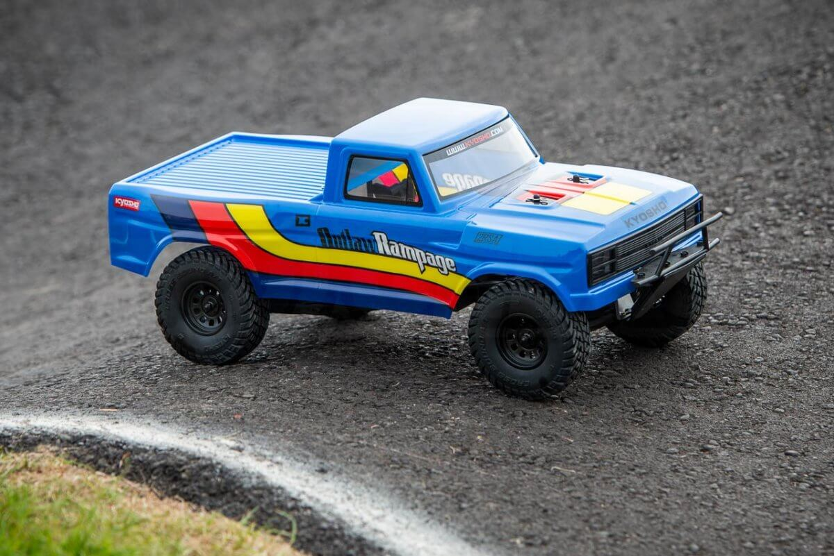 Kyosho Outlaw Rampage Review on track