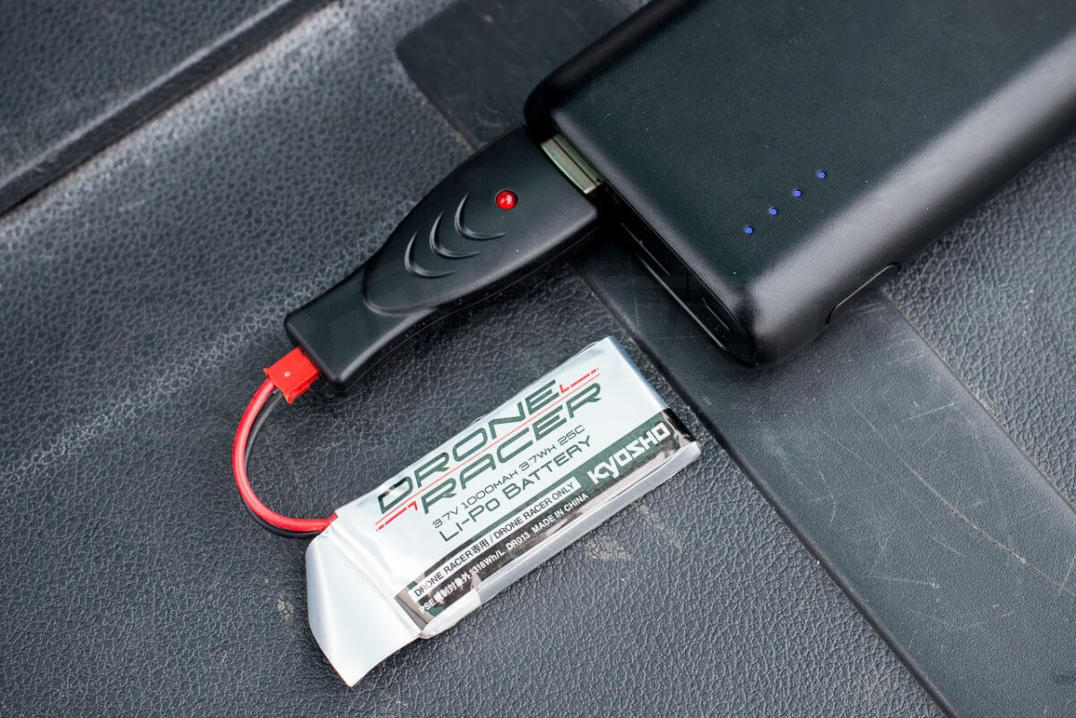 Kyosho Zephyr Force Racing Drone Review battery charger usb powerpack
