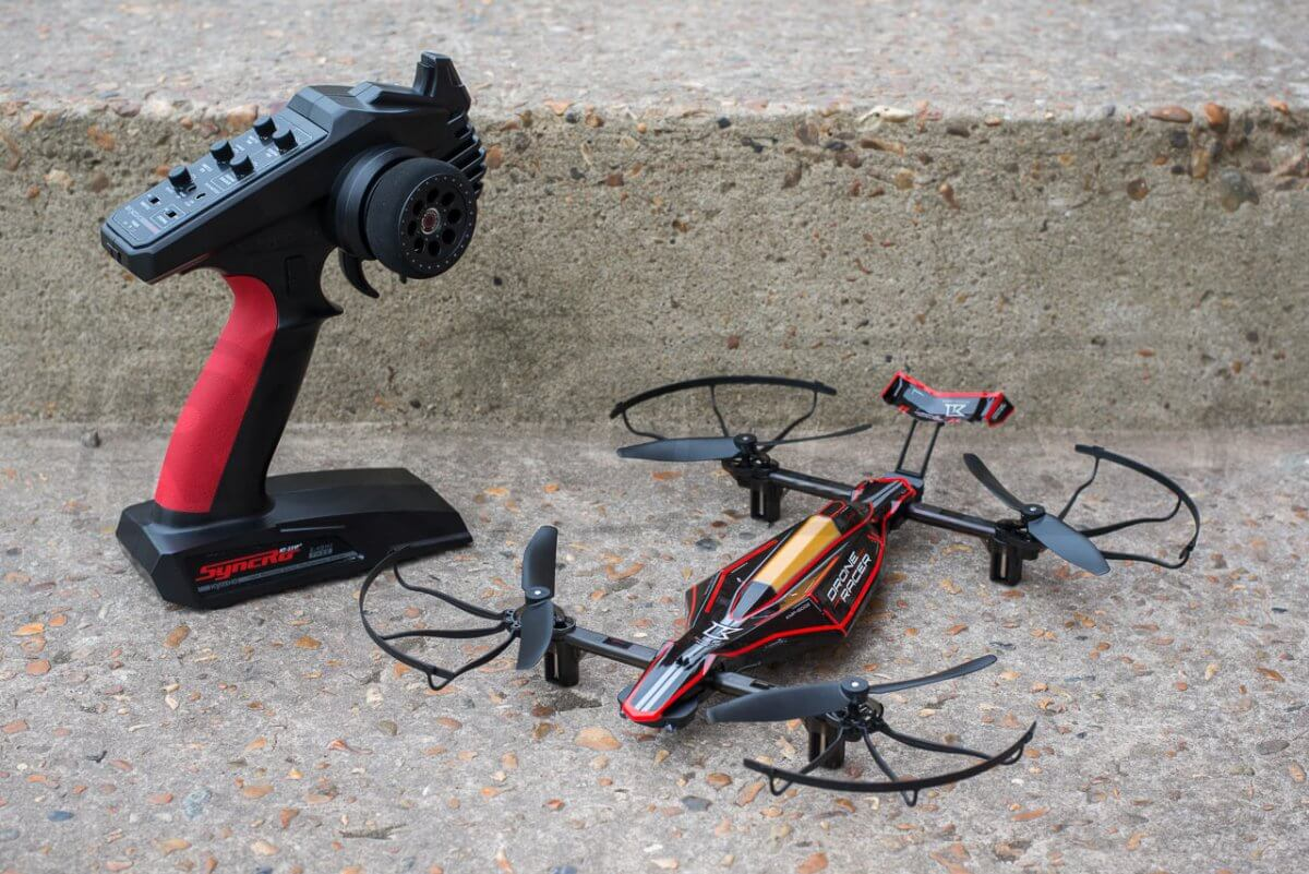 Kyosho Zephyr Force Racing Drone Review with stick controller