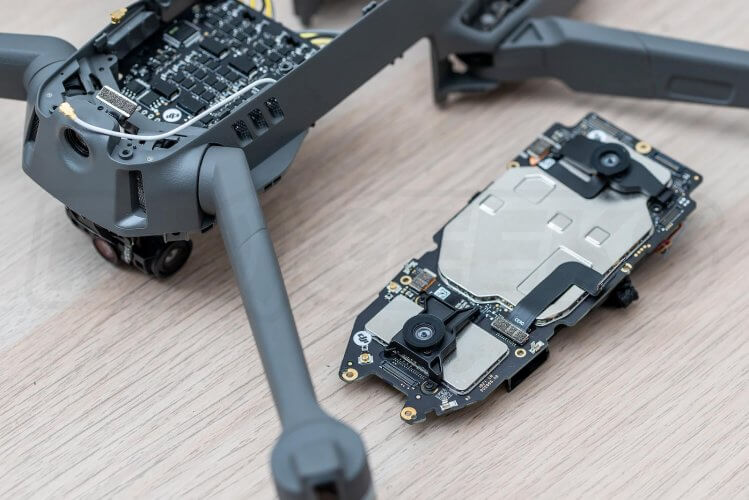Mavic 2 Pro Teardown mainboard-removed