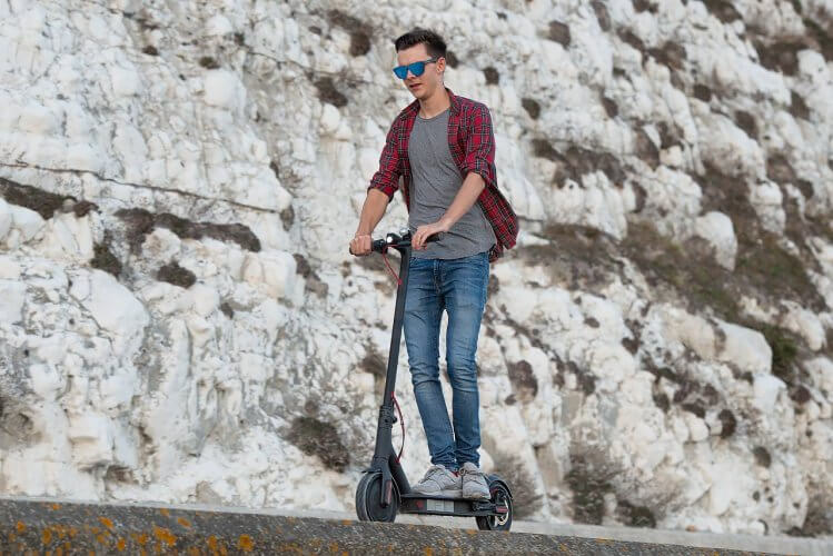 Mi Electric Scooter cliff riding