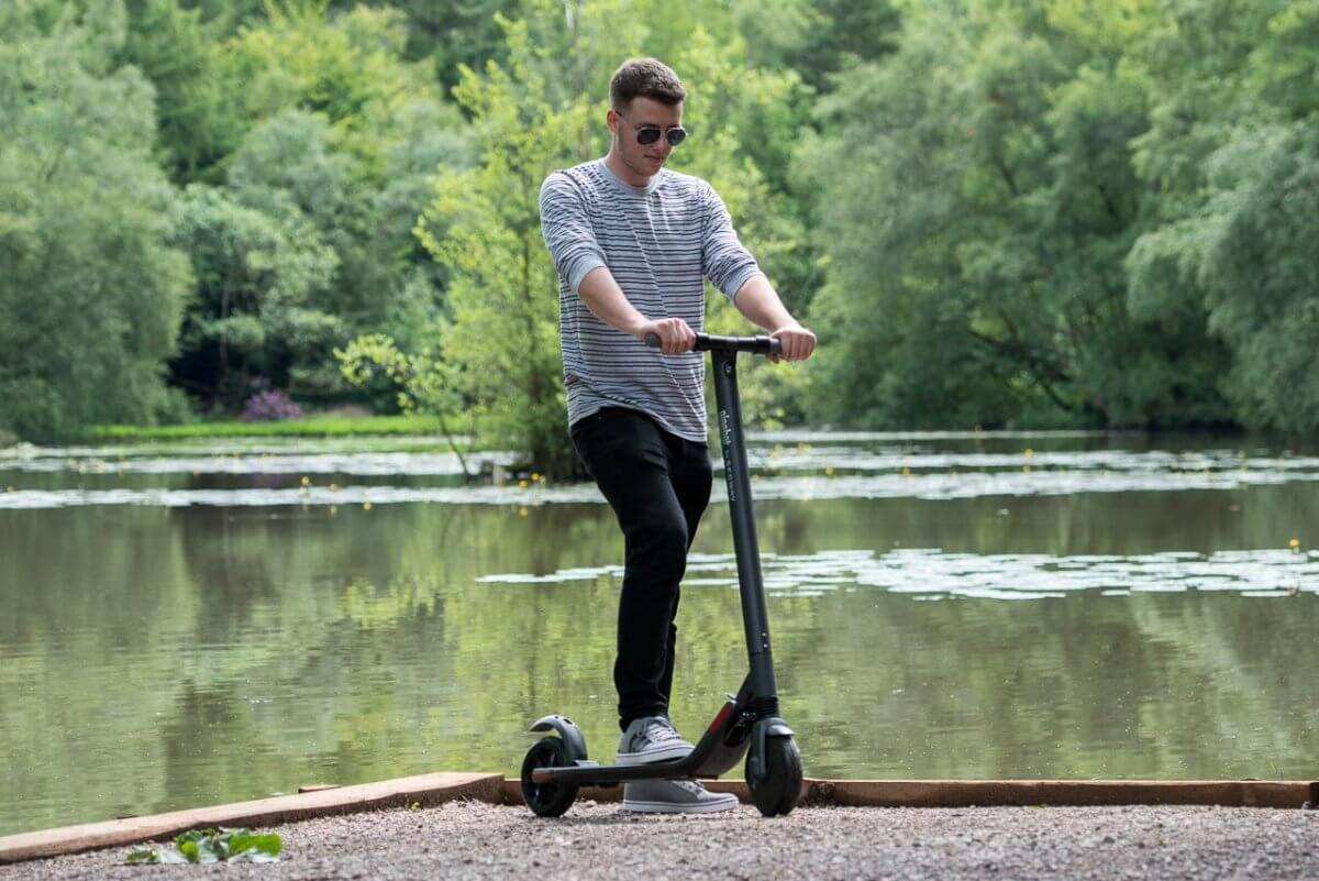 Ninebot ES2 Scooter review nature enjoyment close