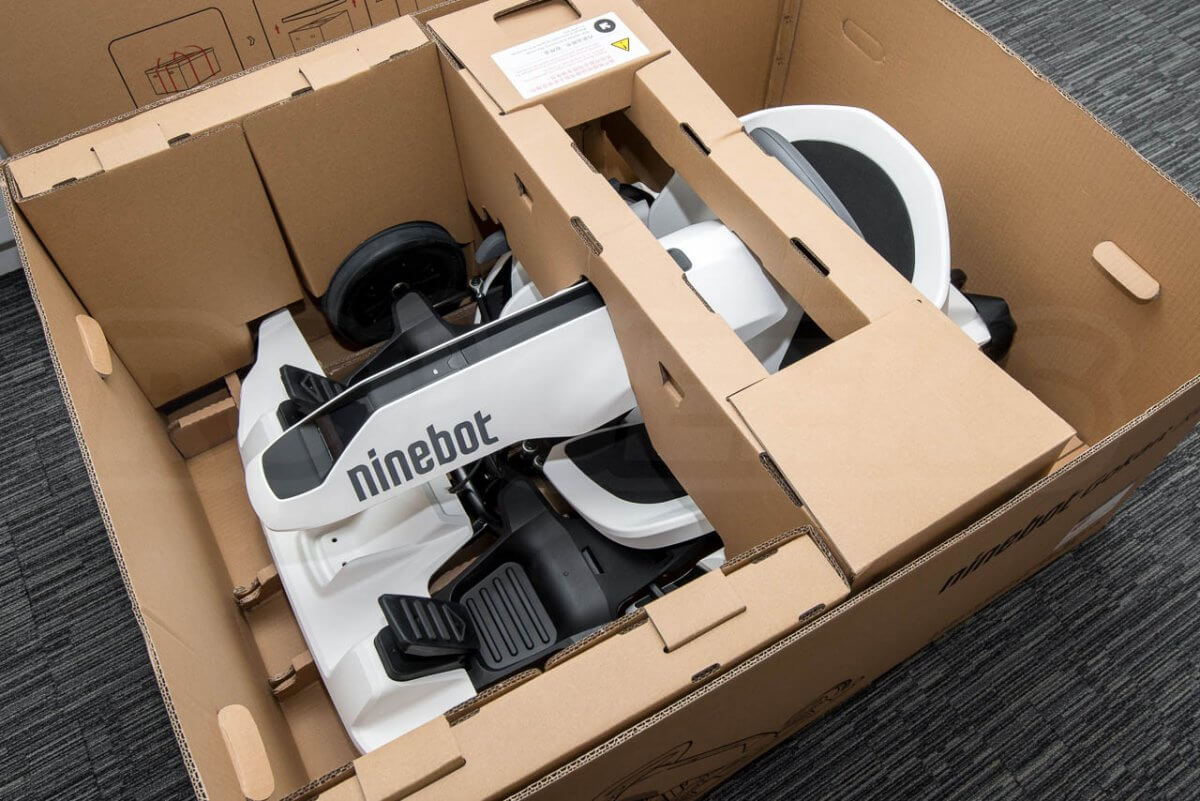 Ninebot GoKart kit review segway unboxing box contents
