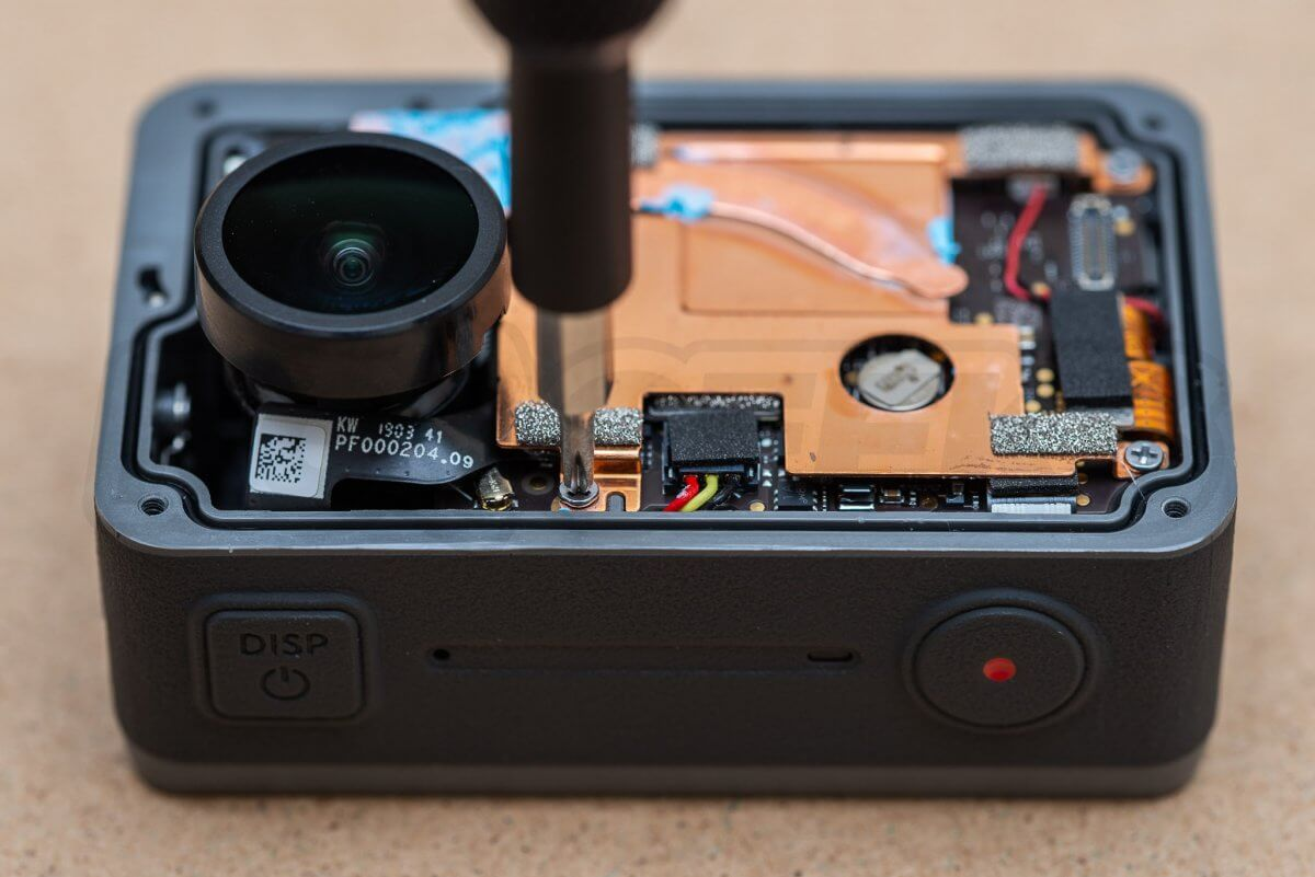 RCGeeks Osmo Action Teardown copper heat spreader removal