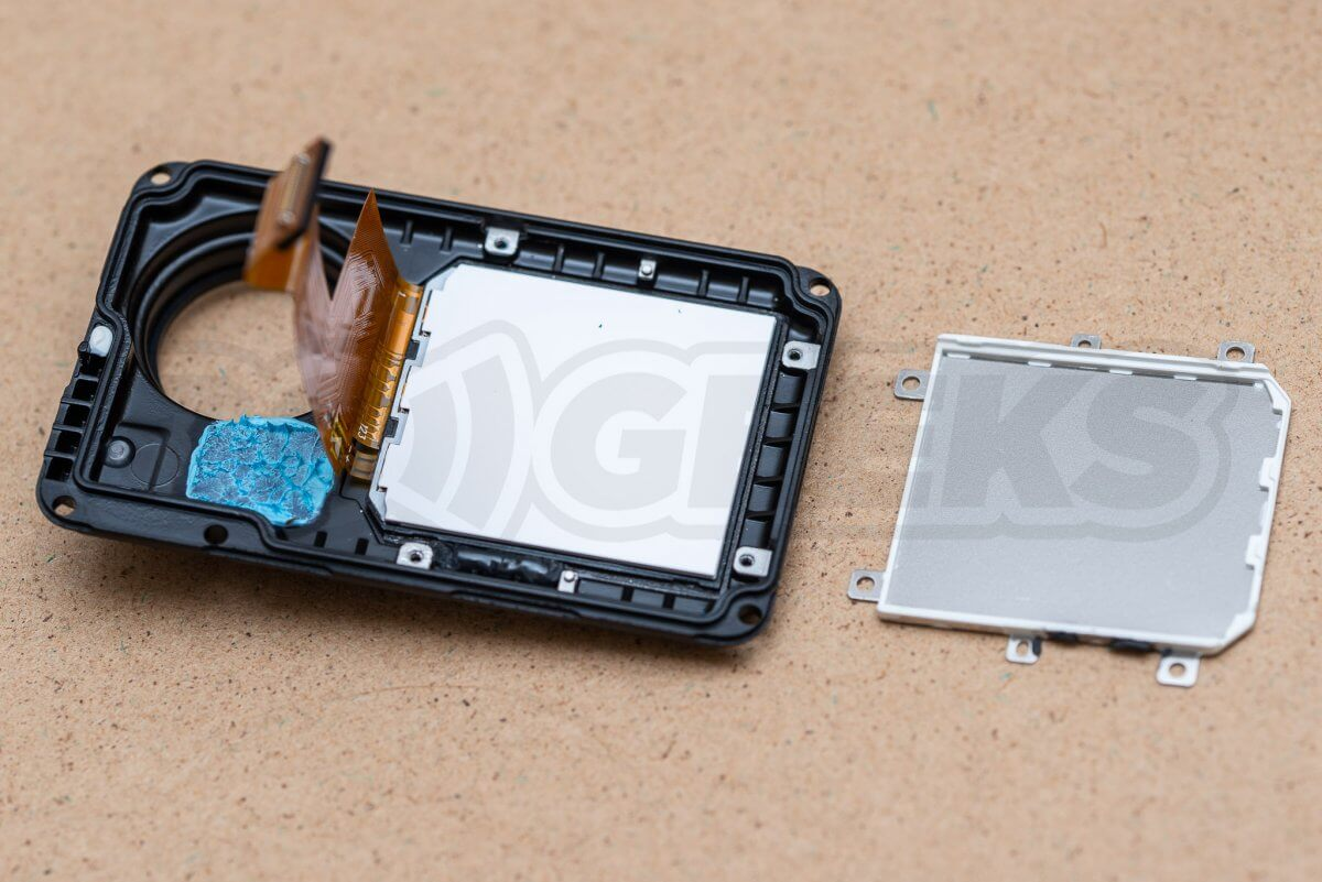 RCGeeks Osmo Action Teardown front screen backplate removed