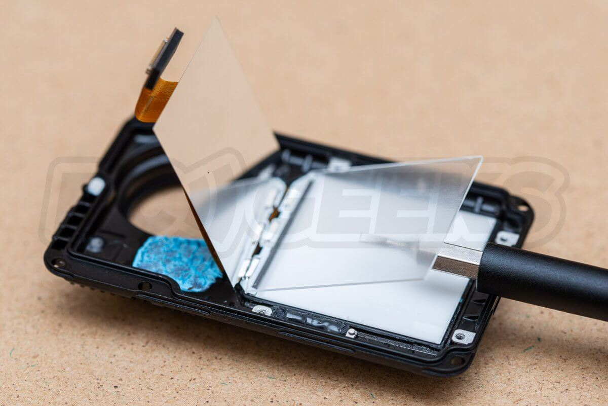 RCGeeks Osmo Action Teardown front screen layers
