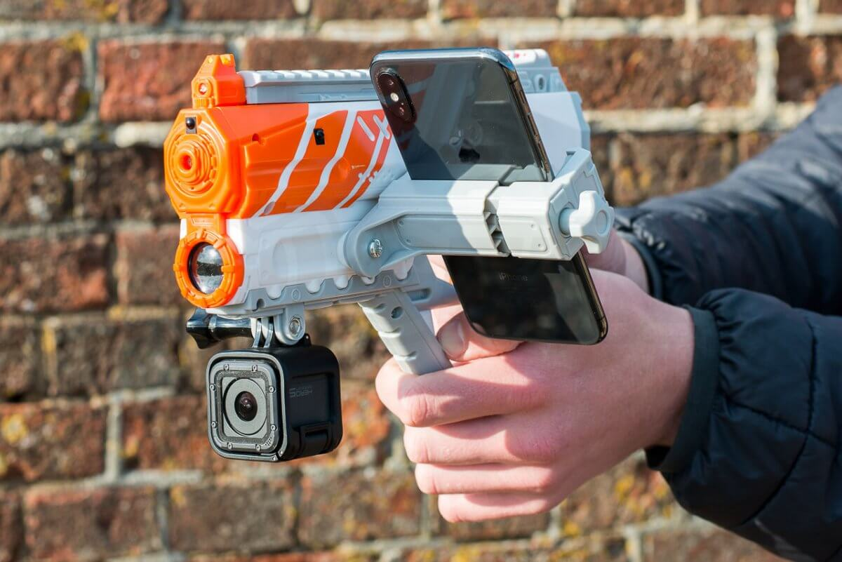 Recoil Multiplayer Augmented Reality Game blaster gopro mount